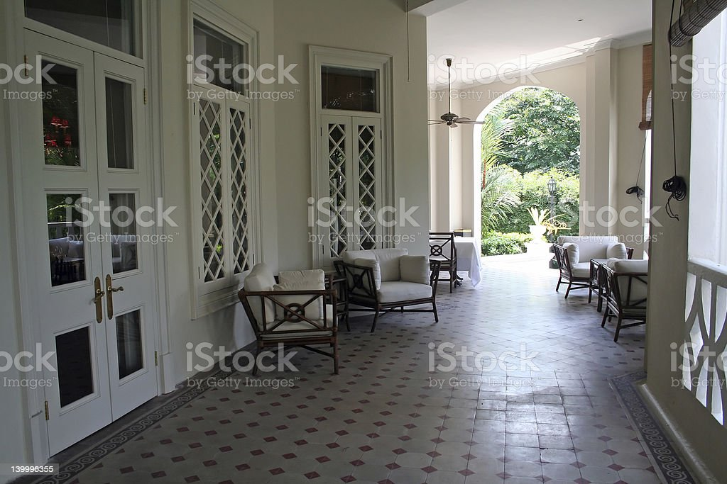 Tropical colonial architectur royalty-free stock photo