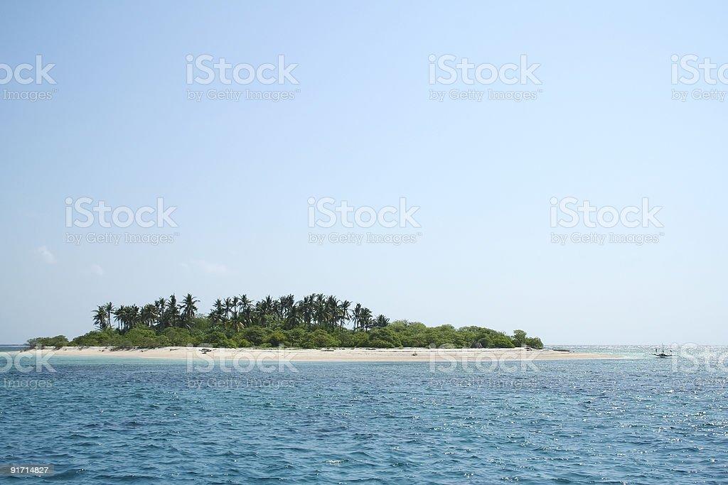 tropical desert island beach blue sky philippines stock photo