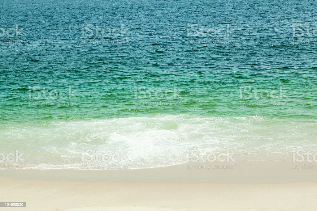 Tropical Deserted Beach, Ocean, Sea, Copyspace royalty-free stock photo
