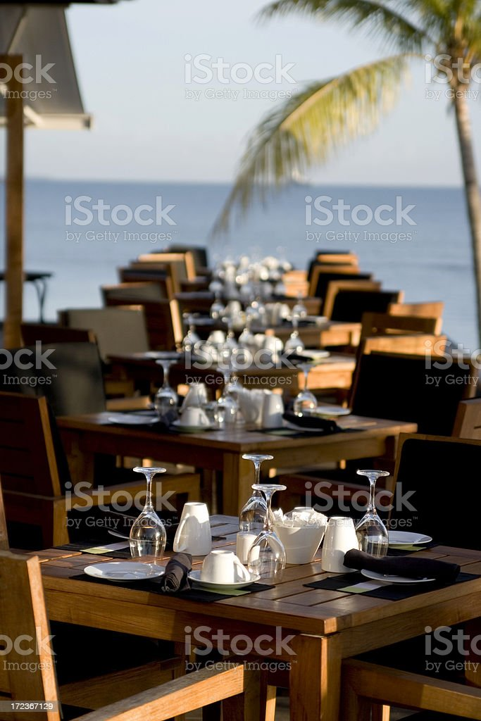 Tropical Dining Poolside royalty-free stock photo