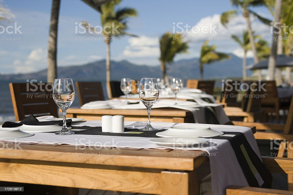 Tropical Dinner Setting royalty-free stock photo