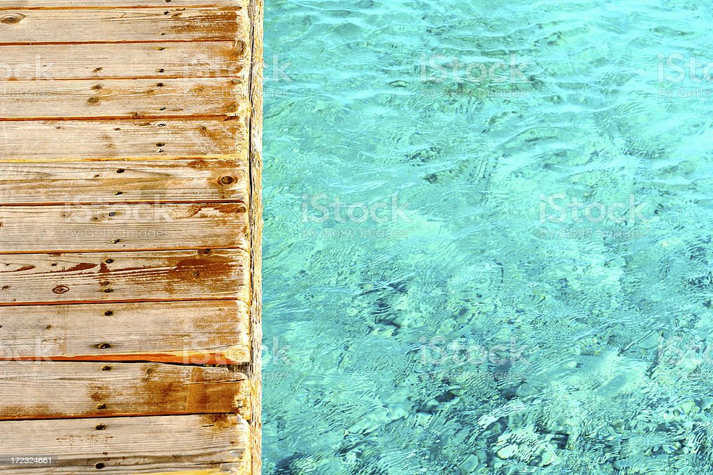 Tropical Dock royalty-free stock photo