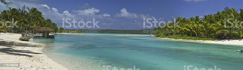 Tropical Dream Beach Paradise Panoramic royalty-free stock photo