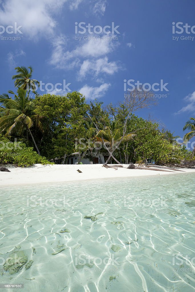 Tropical dream with cristal water stock photo