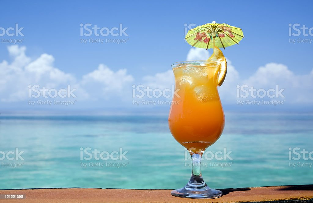 Tropical Drink In Paradise stock photo