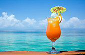 Tropical Drink In Paradise