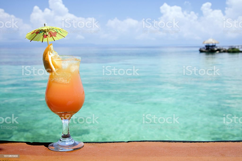 Tropical Drink Paradise stock photo