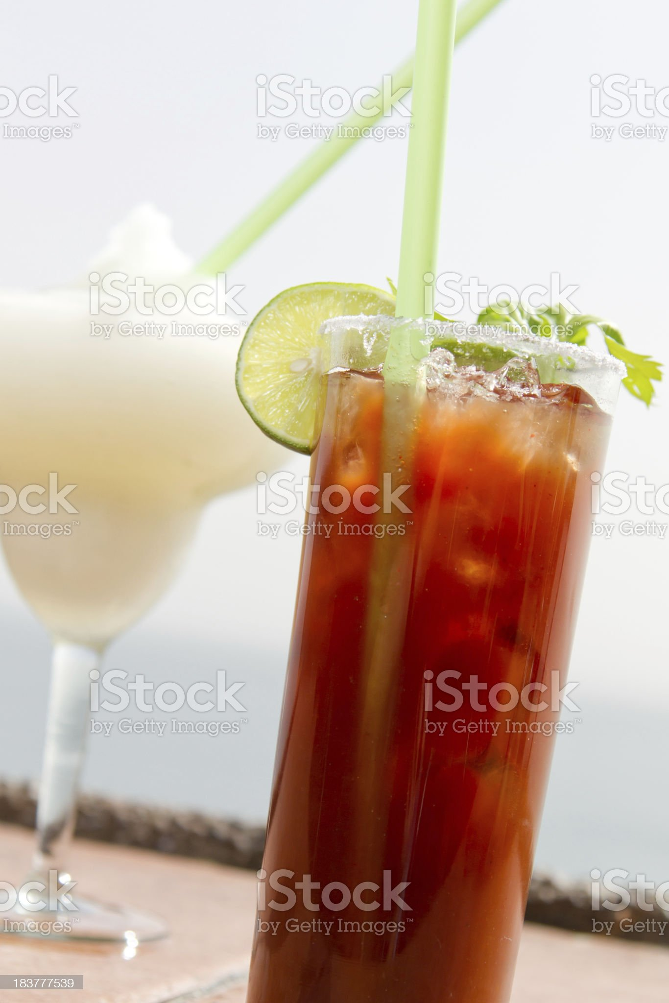 Tropical Drinks royalty-free stock photo
