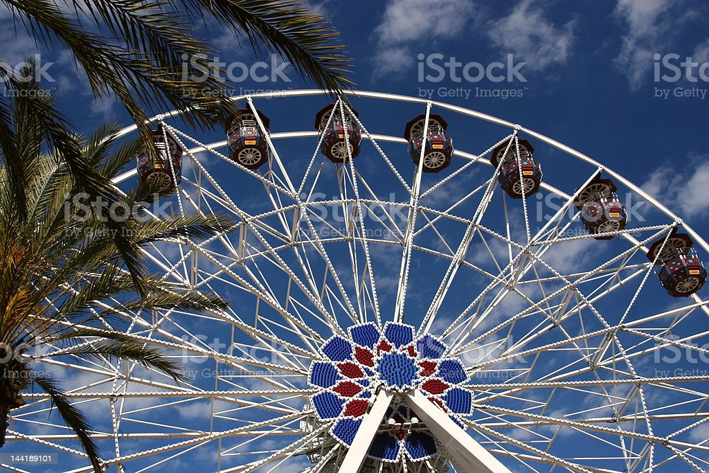 Tropical Ferris Wheel royalty-free stock photo