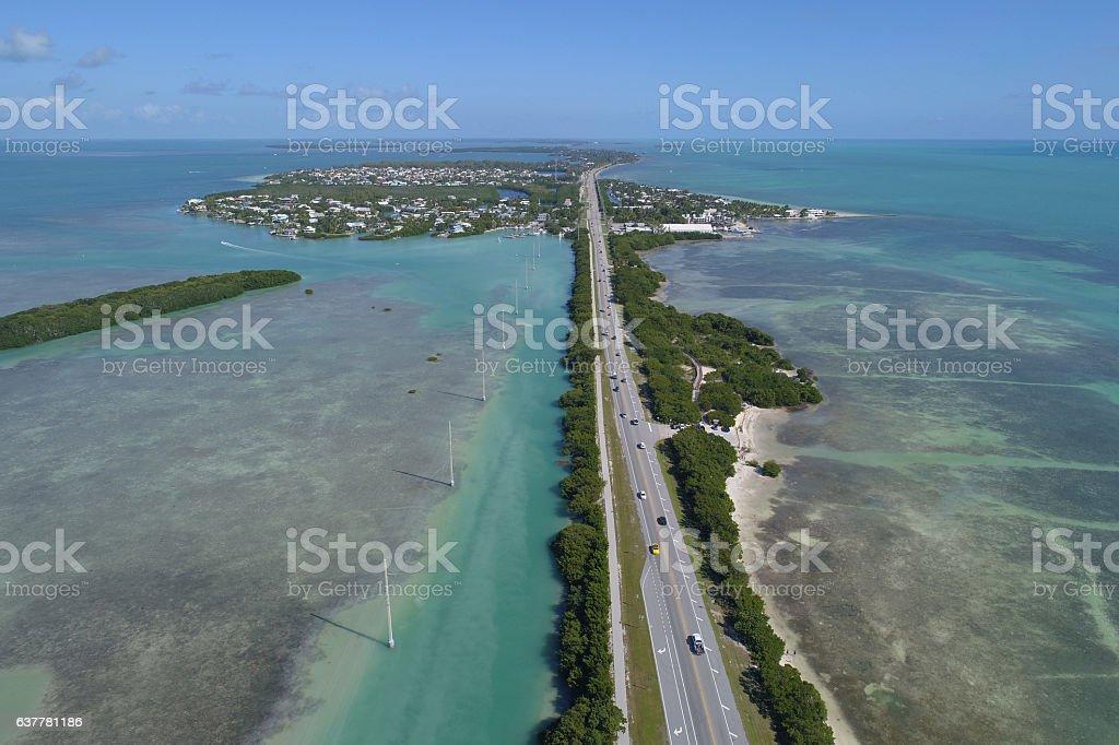 Tropical Florida Keys scene stock photo