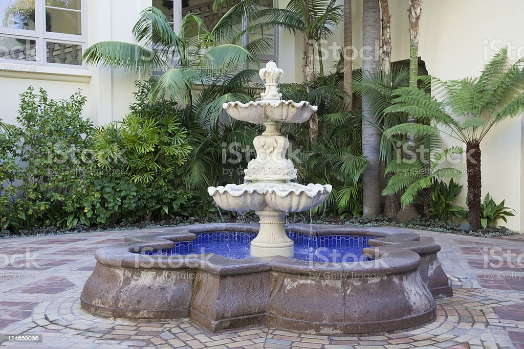 Tropical Fountain royalty-free stock photo