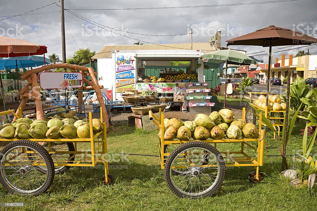 Tropical Fresh Fruit Stand royalty-free stock photo