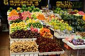 Tropical Fruit Market Stand in public market