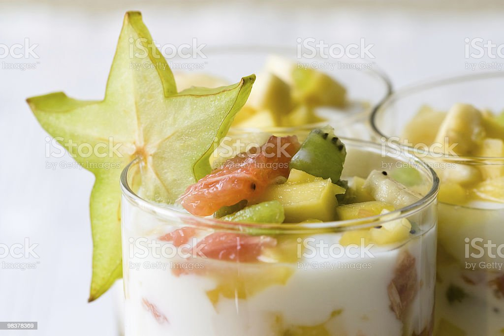 Tropical Fruit Salad stock photo