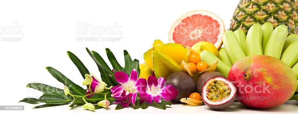 Tropical fruits panorama royalty-free stock photo