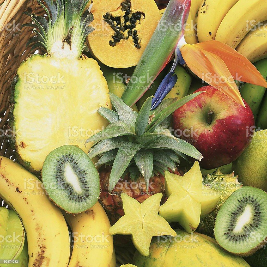 Frutas tropicales foto de stock libre de derechos