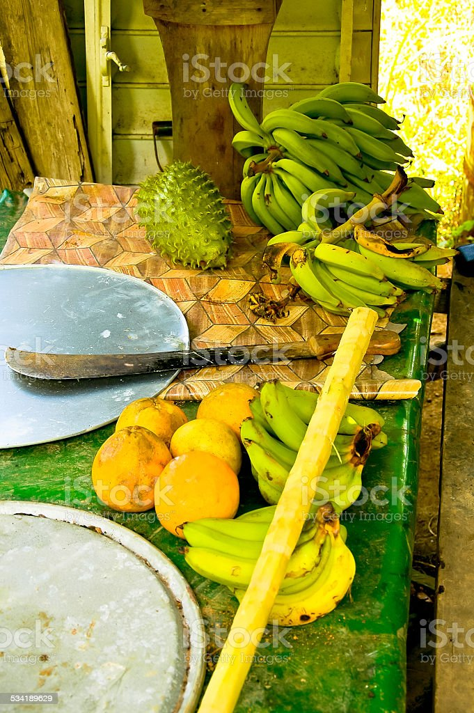 Tropical fruits  - Plantation stock photo