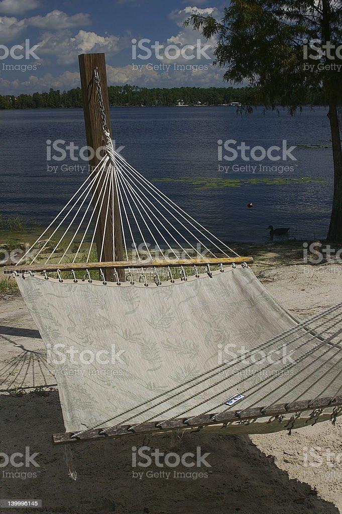 Una hamaca Tropical foto de stock libre de derechos