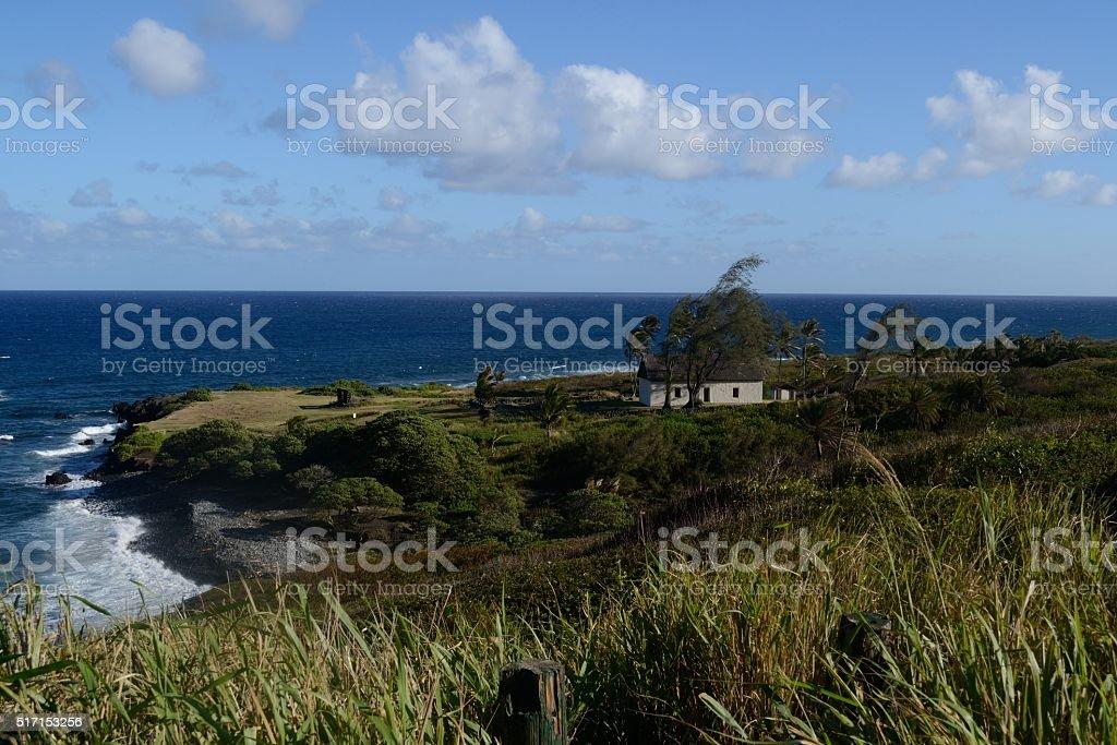 Tropical Hawaii coastline stock photo