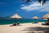 Tropical holidays on Nha Trang beach, Vietnam