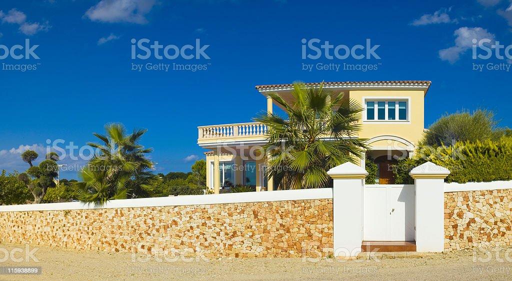 Tropical home stock photo