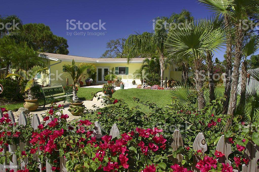 Maison tropicale photo libre de droits