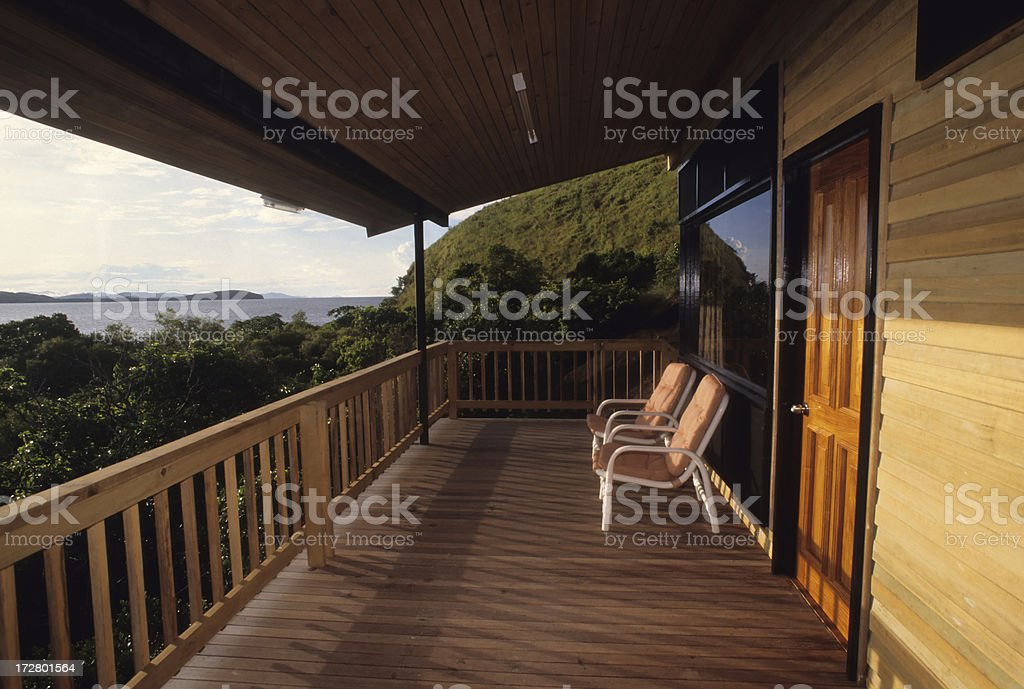 Tropical Home with Balcony royalty-free stock photo