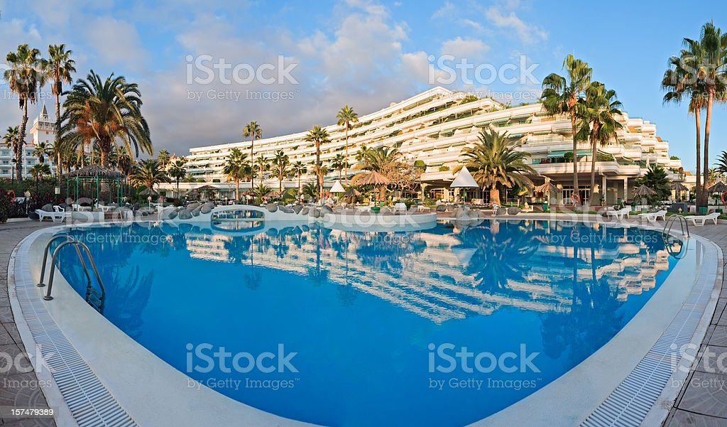 Tropical hotel, Tenerife stock photo