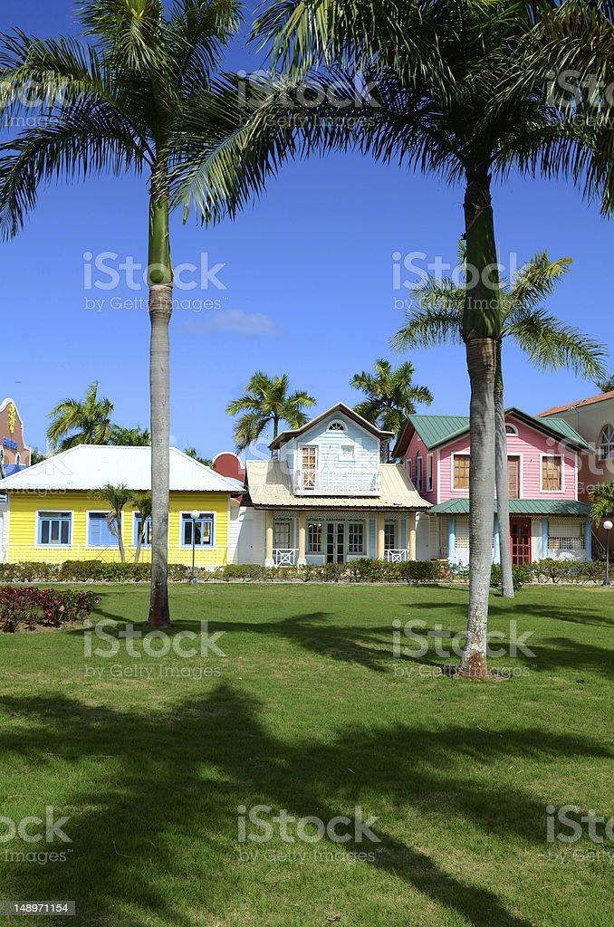 tropical housing stock photo