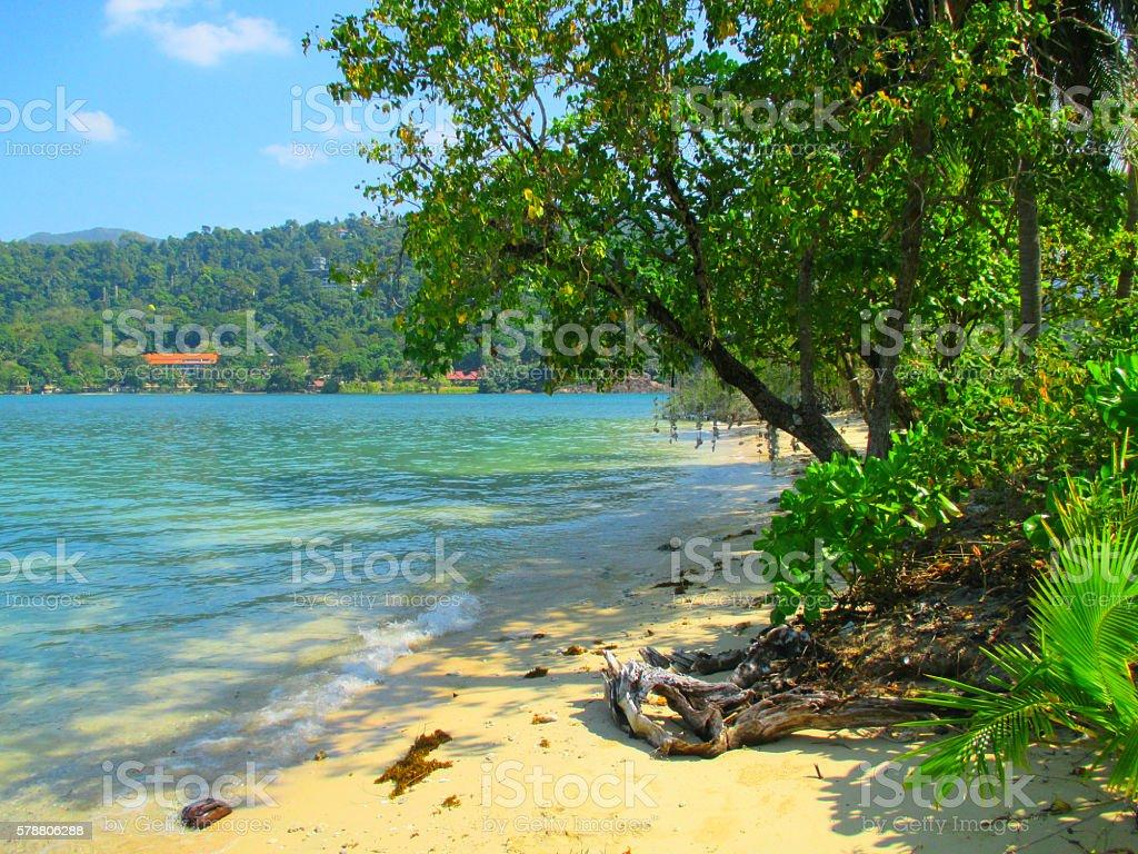 Tropical Island Beach, Koh Chang, Thailand stock photo