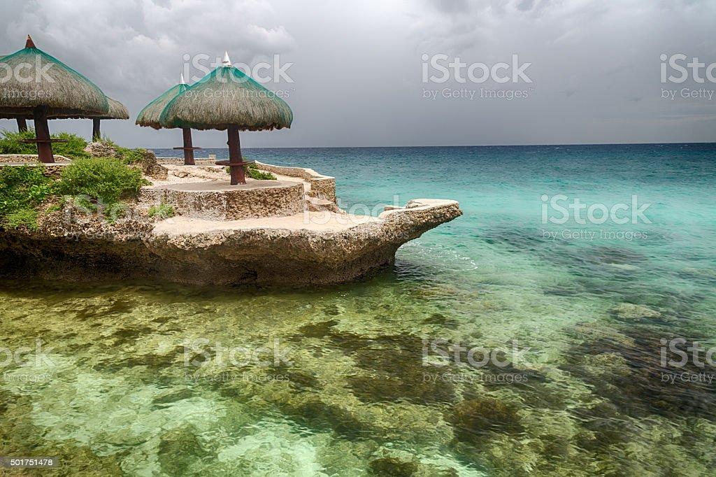 Landschaft der tropischen Insel Strand Lizenzfreies stock-foto