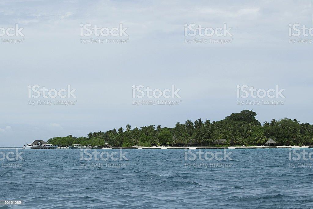 Ilha Tropical em Maldivas foto royalty-free