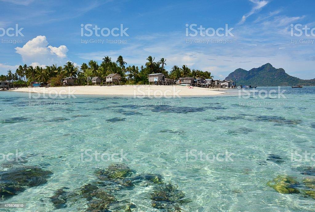 Tropical Island in Sabah Borneo, Malaysia stock photo