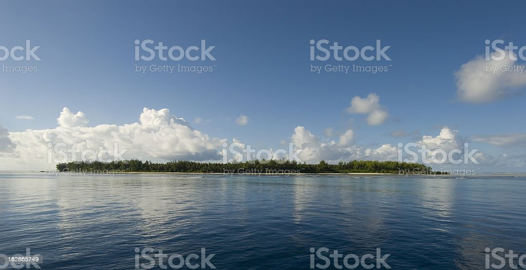 tropical island in seychelles royalty-free stock photo