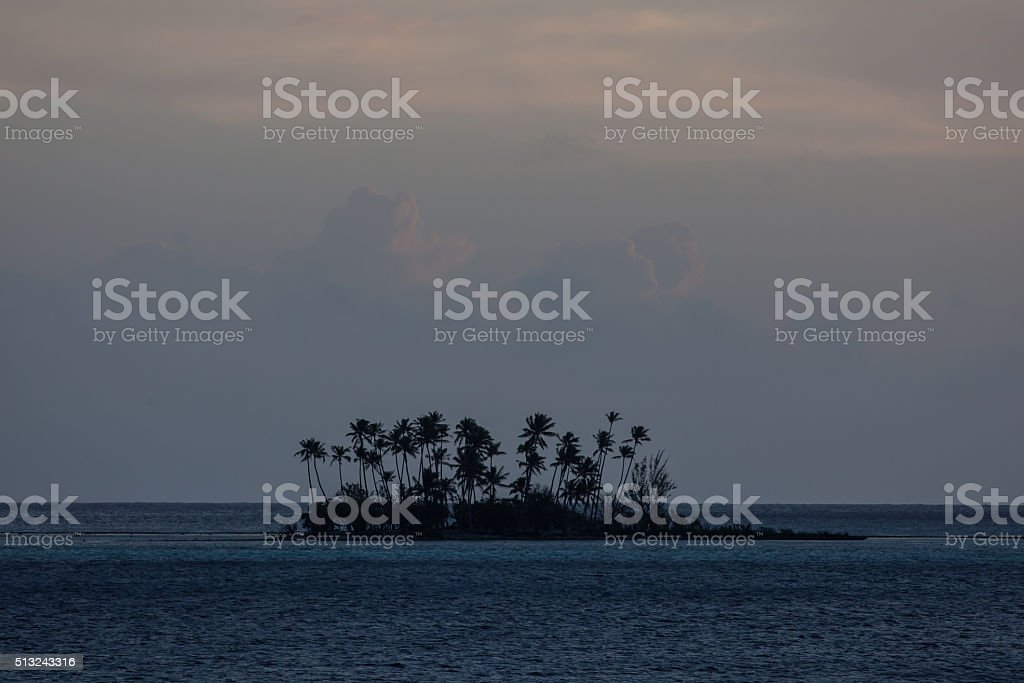 Tropical Island in South Pacific stock photo