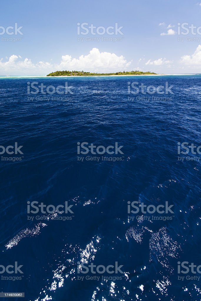 Tropical island in the Maldives royalty-free stock photo