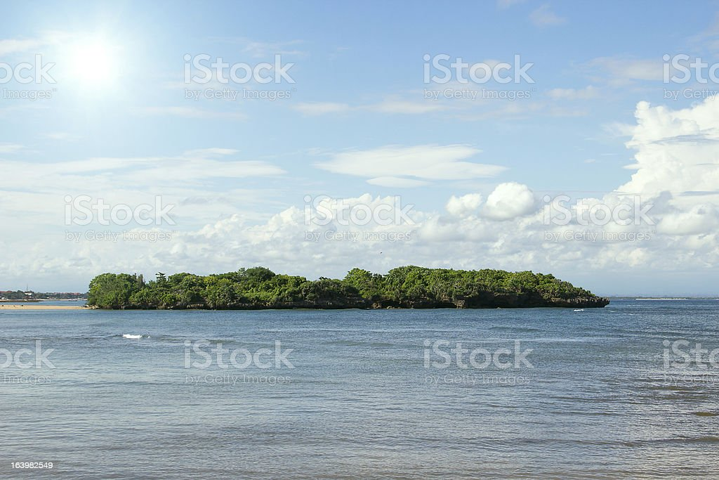 Tropical island in the sea royalty-free stock photo