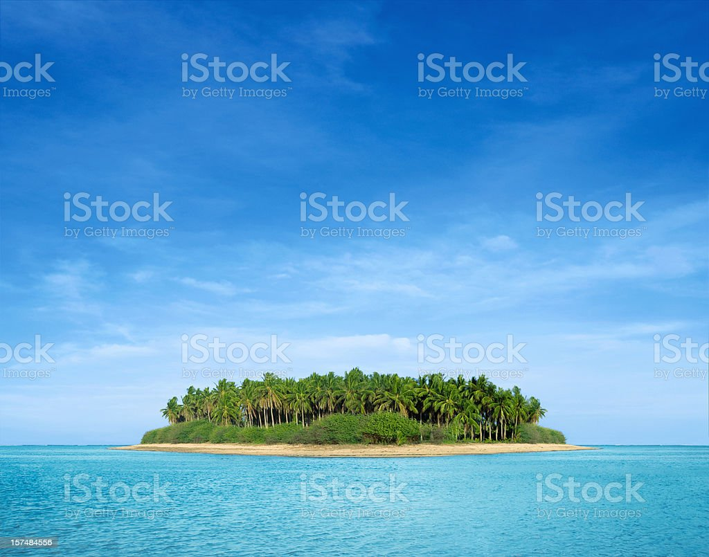 Tropical island stock photo