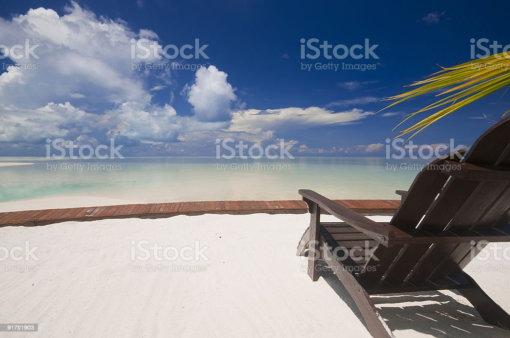 Tropical island relaxation. royalty-free stock photo