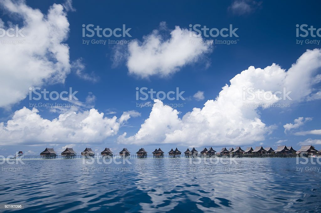 Tropical island resort royalty-free stock photo