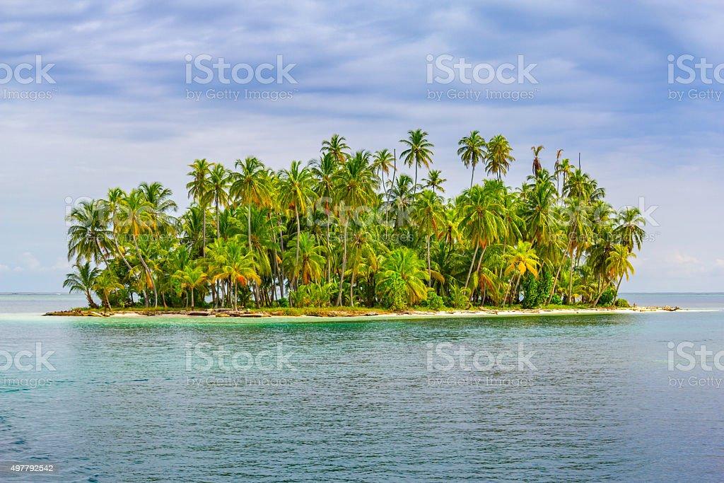 Tropical Island San Blas Islands Panama stock photo