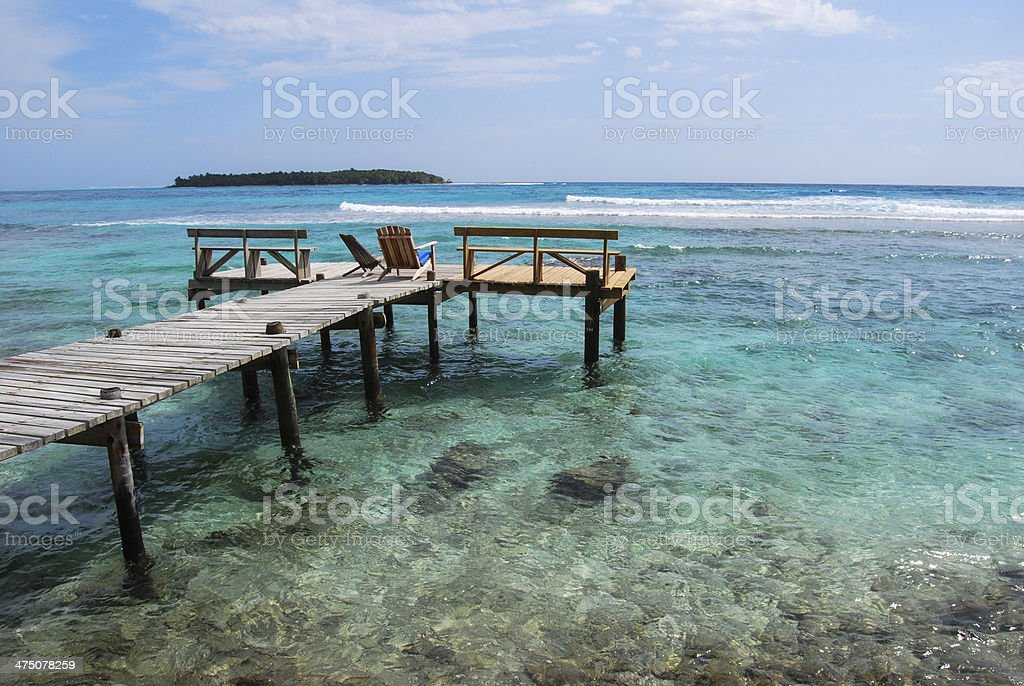 Tropical Island View stock photo