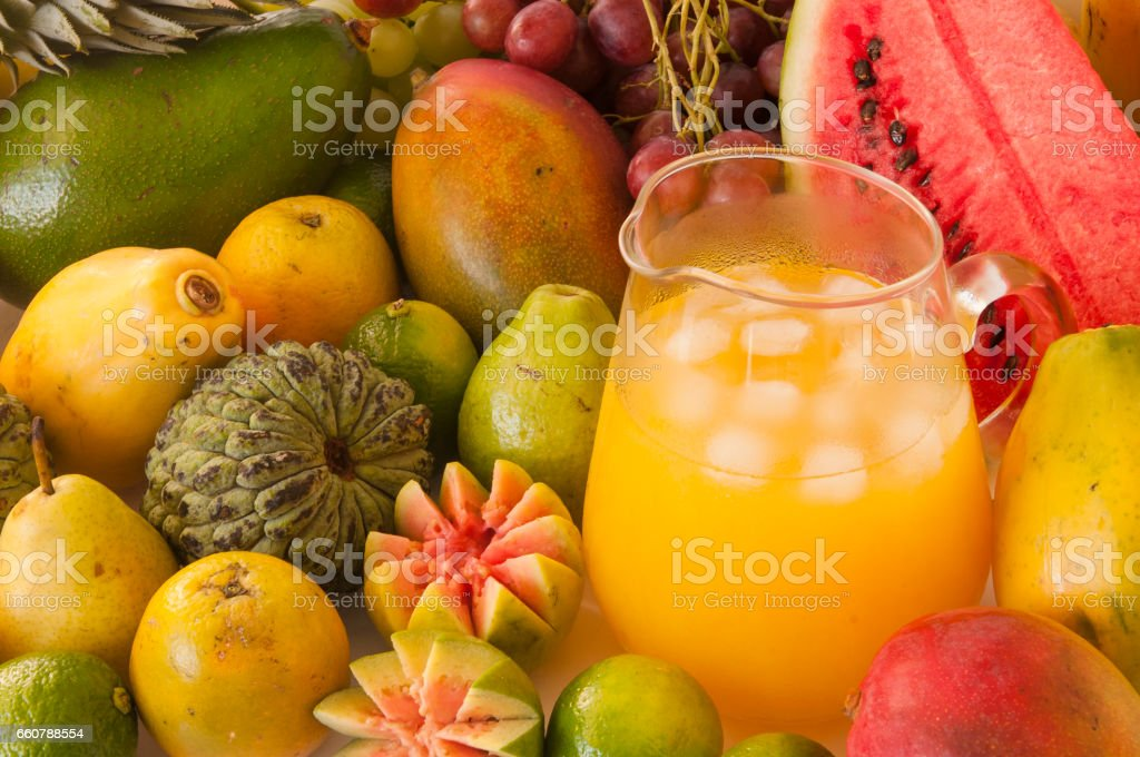 Tropical juice stock photo