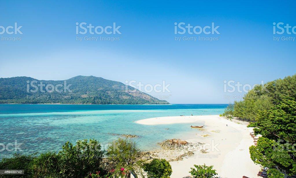 Tropische Lagune ein Paradies voller türkisblaues Wasser in Thailand Lizenzfreies stock-foto