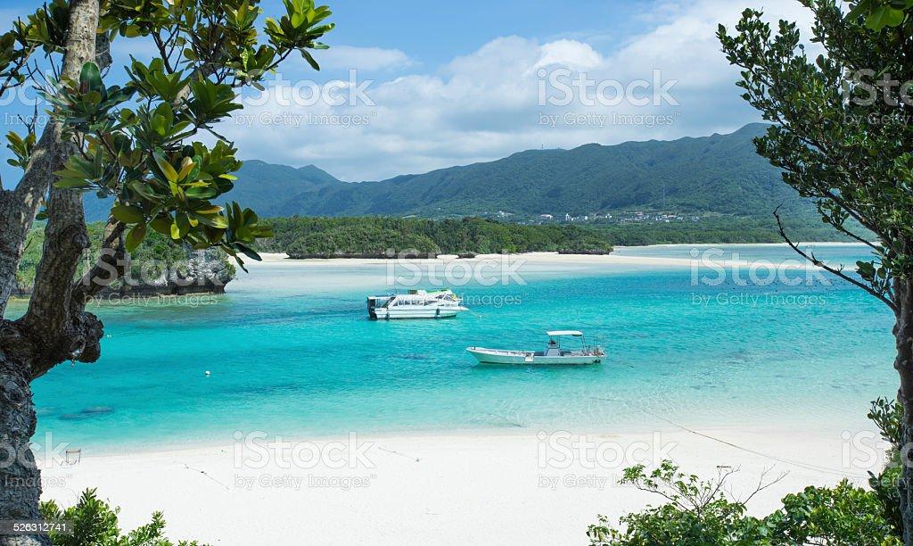 Tropische Lagune Paradies der Peeptoe Kabira Bay, Okinawa Lizenzfreies stock-foto