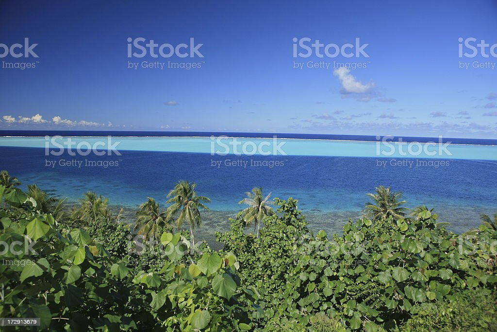 tropical lagoon royalty-free stock photo