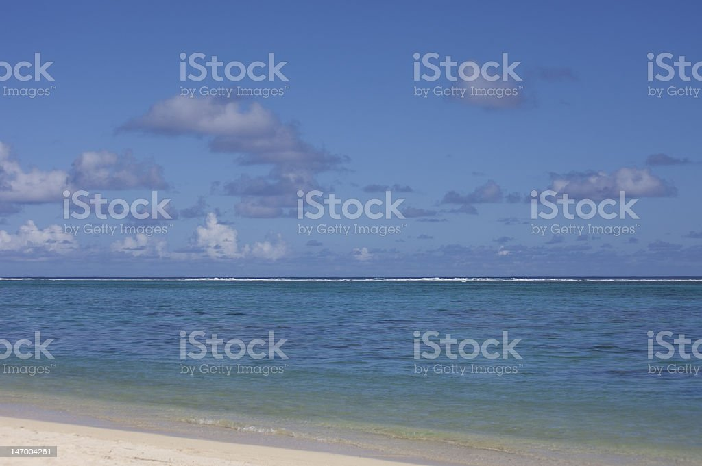 Tropical Lagoon with Beach and Cloudscape royalty-free stock photo