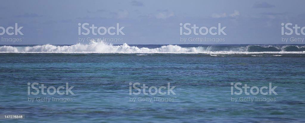 Tropical Lagoon with Coral Reef royalty-free stock photo