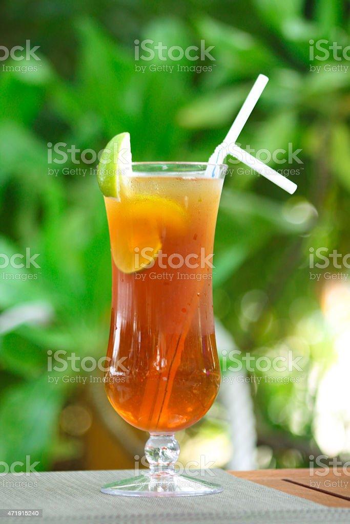Tropical Lemongrass Ice Tea stock photo