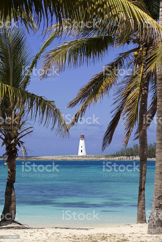 Tropical Lighthouse stock photo